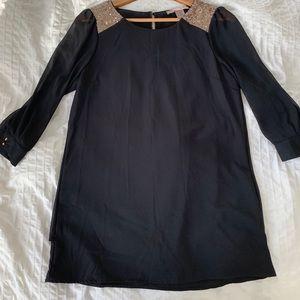 Mini 3/4 length sleeve sequin-dress -NEW YEARS EVE